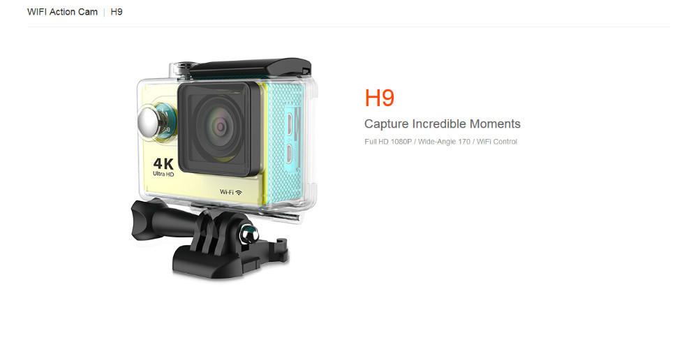 Camera  aquática Ultra HD - 4K Com Wifi - Full Extas Action cam, qualidade 4K Ultra HD, Lente grande-angular 170º , todos os acessórios incluídos