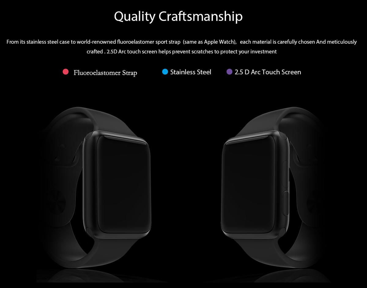 Relógio Smartwatch Ulefone com Bluetooth 4.0 - IP65 à prova água , tenha todas as funcionalidades do seu Smartphone - Android ou Iphone no seu pulso.