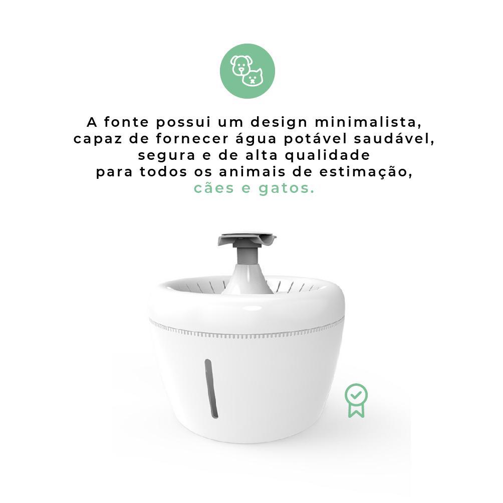 A fonte capaz de fornecer água potável saudável, segura e de alta qualidade a todos os animais de estimação, sejam eles cães ou gatos