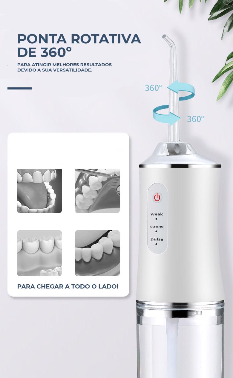 Remova resíduos de alimentos que a escova não consegue, evitando mau hálito, gengivite, placa bacterianas, cáries, entre outros problemas dentais