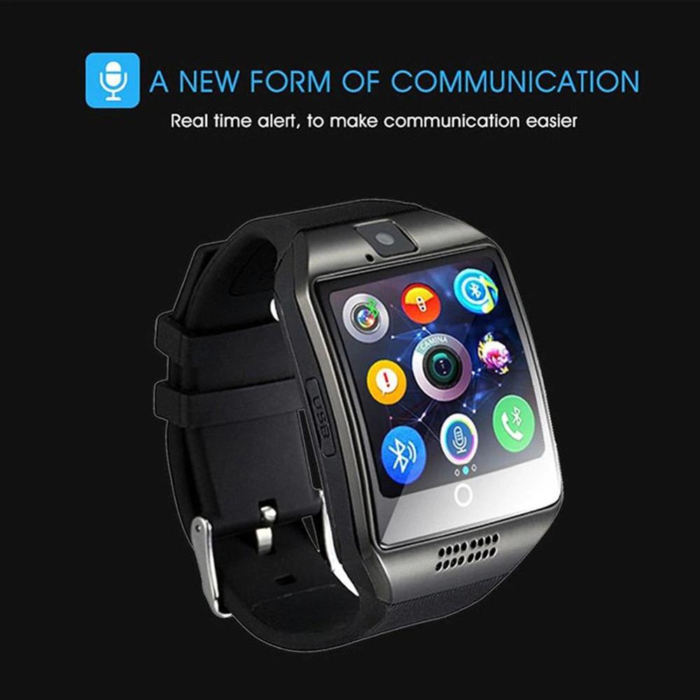 Pode utilizar-se como um relógio inteligente, também é um telefone GSM. Com possibilidade de inserir cartão SIM e fazer chamadas telefónicas directamente